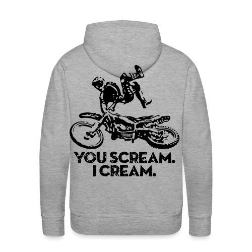 FMX Dirtbike Scream Cream - Men's Premium Hoodie