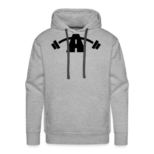 Alpha Logo Black - Men's Premium Hoodie
