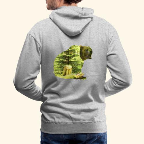 Bear isolated in the woods - Men's Premium Hoodie