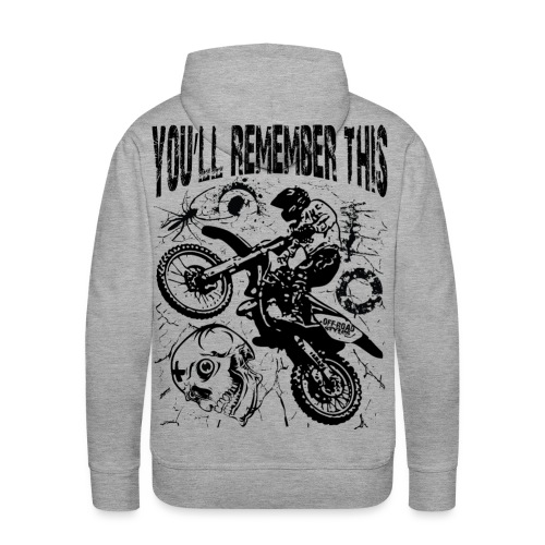 Remember Motocross - Men's Premium Hoodie