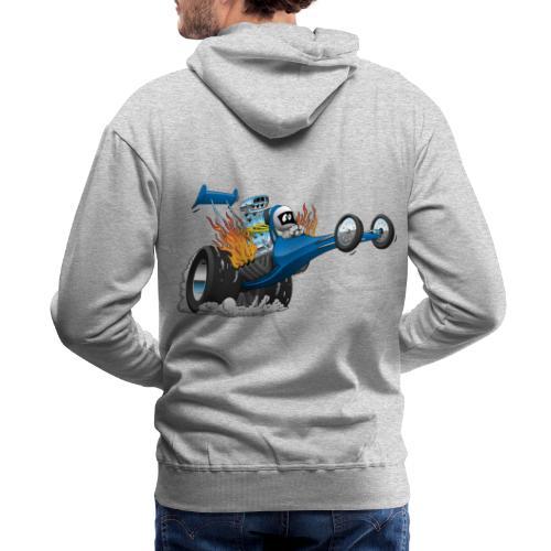 Top Fuel Dragster Cartoon - Men's Premium Hoodie