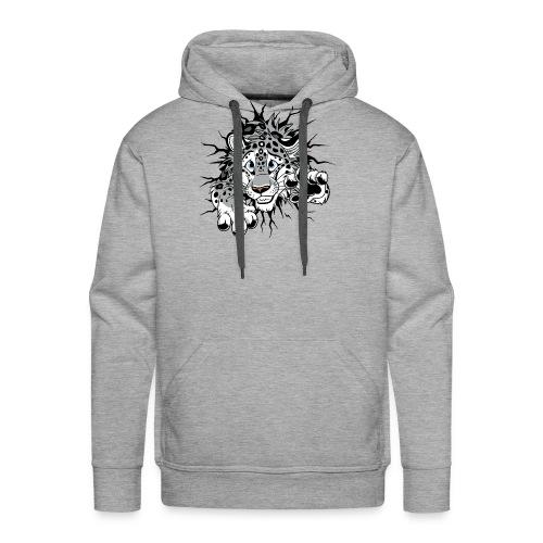 STUCK Snow Leopard (double-sided) - Men's Premium Hoodie