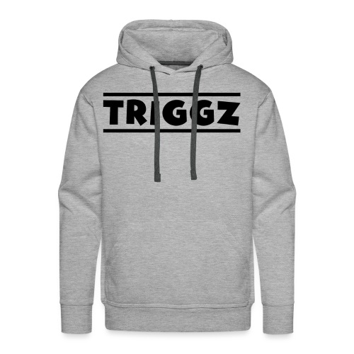 Triggz s Shirt Logo Black with Lines - Men's Premium Hoodie