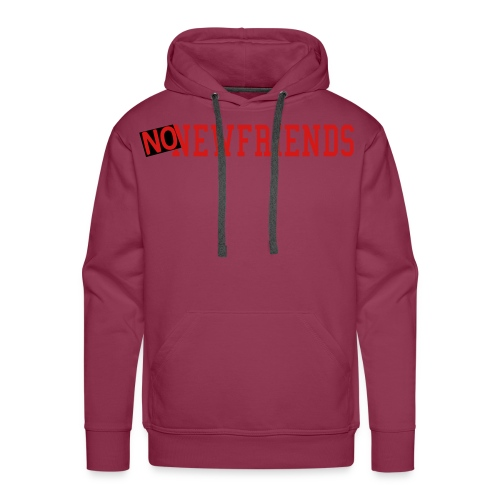 no new friends - Men's Premium Hoodie