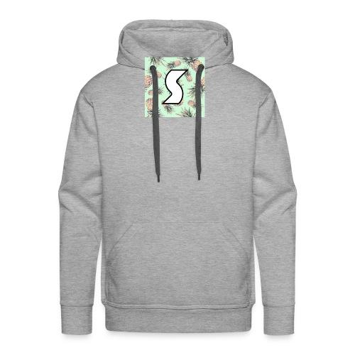 Scorch Pineapple Logo Design - Men's Premium Hoodie