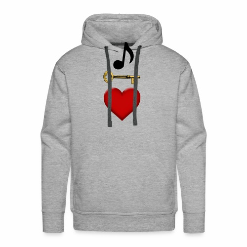 Music is Key to My Heart - Men's Premium Hoodie