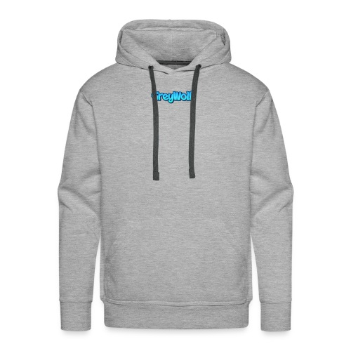 TEXT of GreyWolf - Men's Premium Hoodie