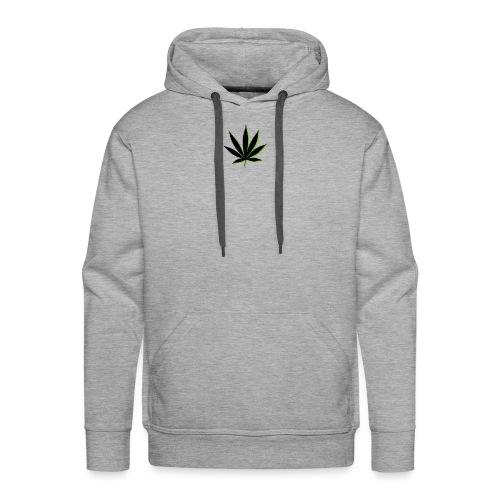 weed symbol drawing leaf - Men's Premium Hoodie