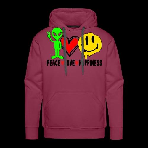 Peace Love Happpiness - Men's Premium Hoodie