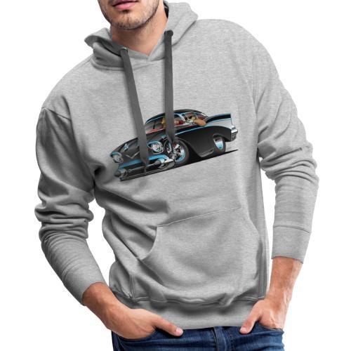 Classic hot rod fifties muscle car - Men's Premium Hoodie