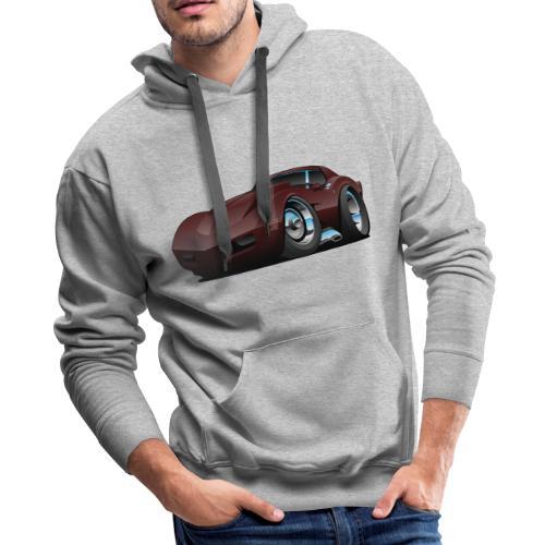 Classic Seventies American Sports Car Cartoon - Men's Premium Hoodie