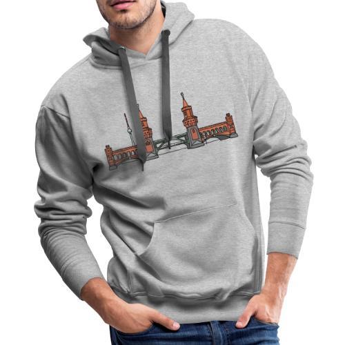Oberbaum Bridge Berlin - Men's Premium Hoodie