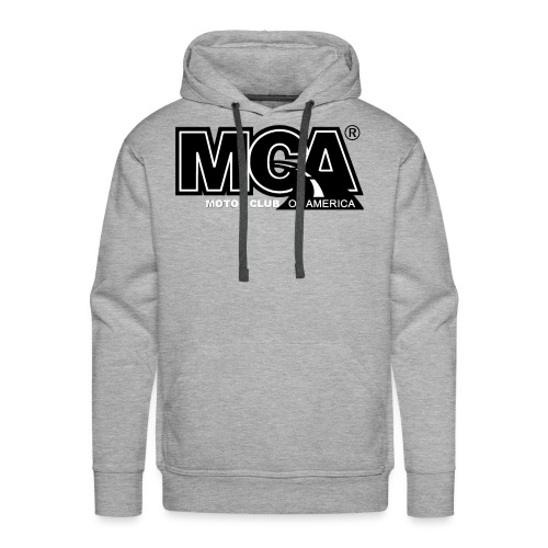MCA Logo WBG Transparent BLACK TITLEfw fw png - Men's Premium Hoodie