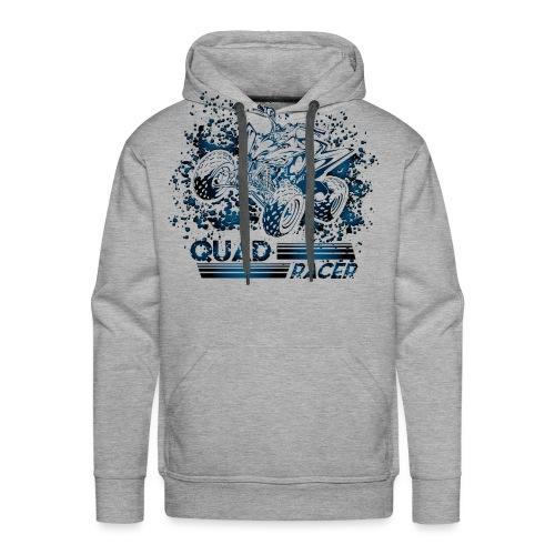 Blue Quad Racer Grunge - Men's Premium Hoodie