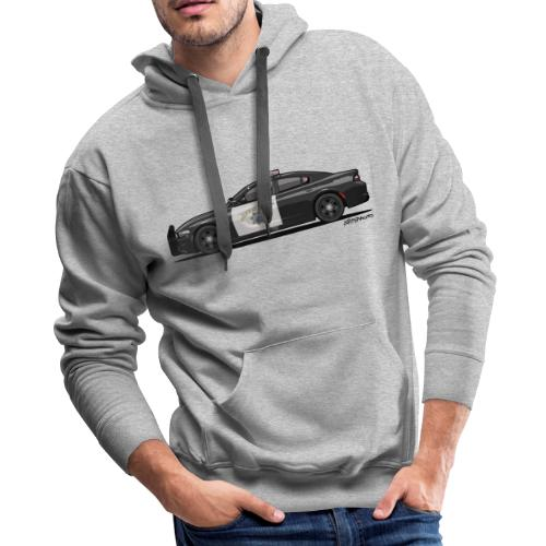 California Highway Patrol Charger Police Car - Men's Premium Hoodie