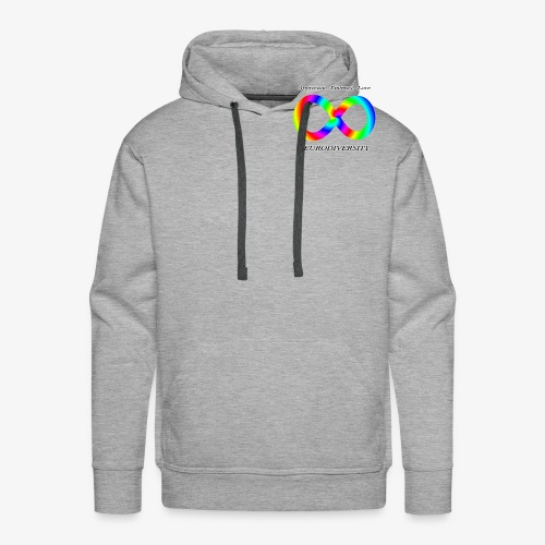 Embrace Neurodiversity with Swirl Rainbow - Men's Premium Hoodie