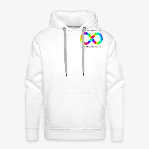 Embrace Neurodiversity with Swirl Rainbow - Men's Premium Hoodie