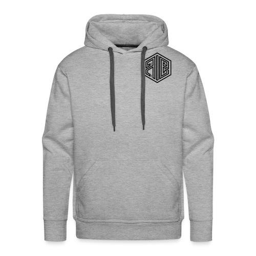 Whiteout // BLACK Brand Logo > WHITE - Men's Premium Hoodie
