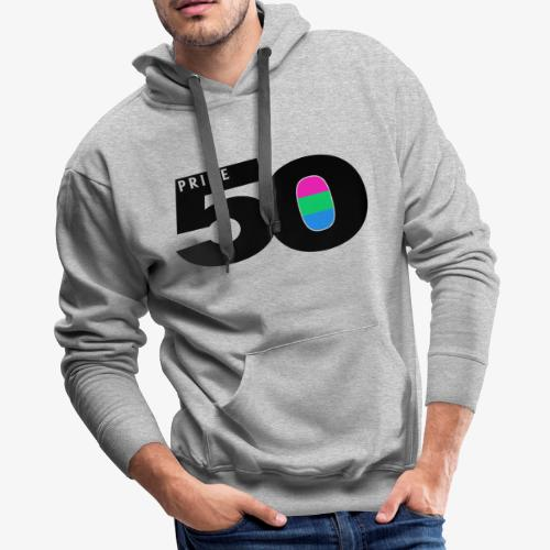 50 Pride Polysexual Pride Flag - Men's Premium Hoodie