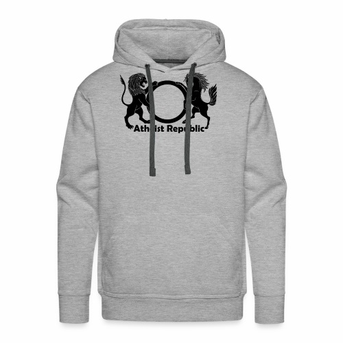 Atheist Republic Logo - Black - Men's Premium Hoodie
