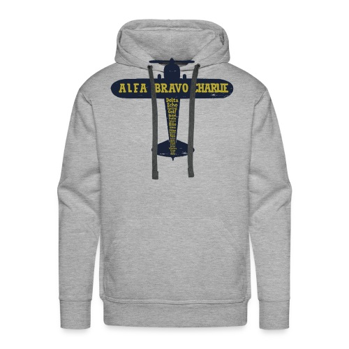 International Phonetic Alphabet Airplane - Men's Premium Hoodie