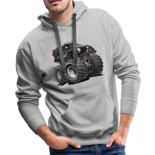 Off road 4x4 black jeeper cartoon - Men's Premium Hoodie
