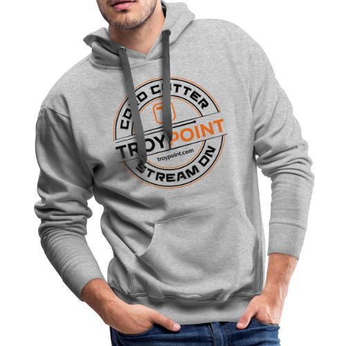 TROYPOINT Cord Cutter - Navy Logo - Men's Premium Hoodie
