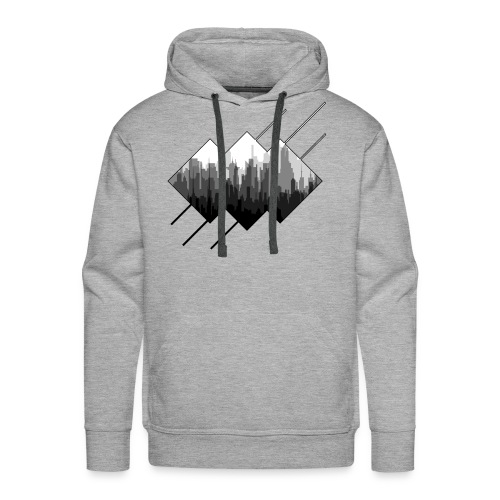 BLACK AND WHITE CITY - Men's Premium Hoodie