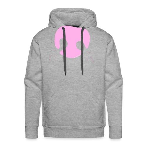 Pink Whimsical Dog Nose - Men's Premium Hoodie