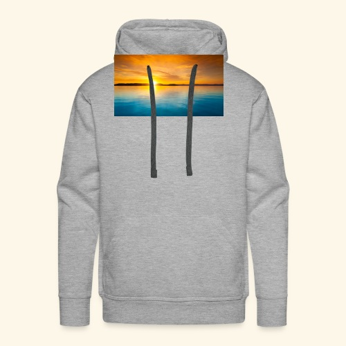 Sunrise over water - Men's Premium Hoodie