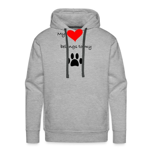 Dog Lovers shirt - My Heart Belongs to my Dog - Men's Premium Hoodie