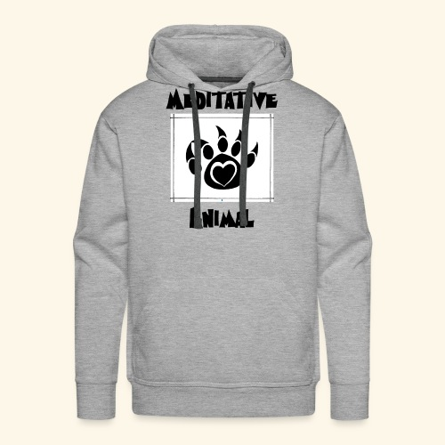Paw Logo with Text and transparency - Men's Premium Hoodie
