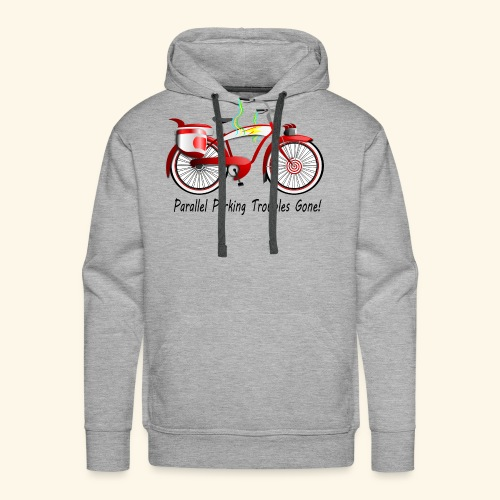 Parallel Parking Troubles Eliminated by Bicycle - Men's Premium Hoodie