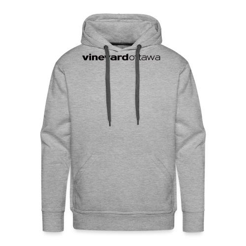 Vineyard Ottawa Logo blac - Men's Premium Hoodie