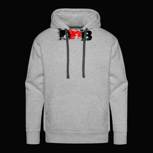 DALEY & BOMBAY LOGO BLACK AND RED - Men's Premium Hoodie