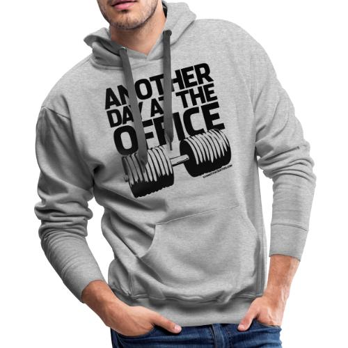 Another Day at the Office - Gym Motivation - Men's Premium Hoodie