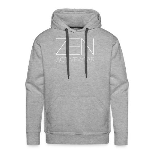 Zen Activewear white 2 - Men's Premium Hoodie