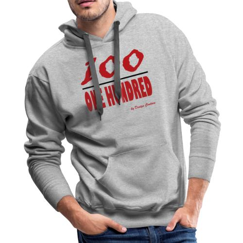 ONE HUNDRED RED - Men's Premium Hoodie