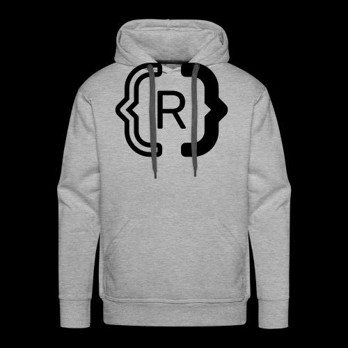 square black reswitched R logo bmx3r - Men's Premium Hoodie