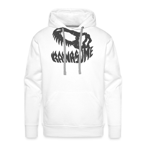 RAWRsome T Rex Skull by Beanie Draws - Men's Premium Hoodie