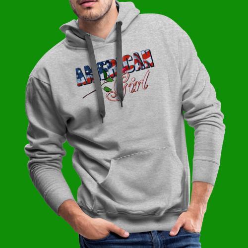 AMERICAN GIRL - Men's Premium Hoodie