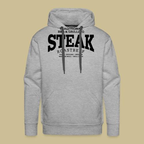 Steak (black) - Men's Premium Hoodie