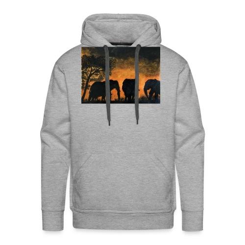 Elephants at sunset - Men's Premium Hoodie
