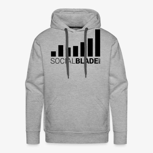 Socialblade (Dark) - Men's Premium Hoodie