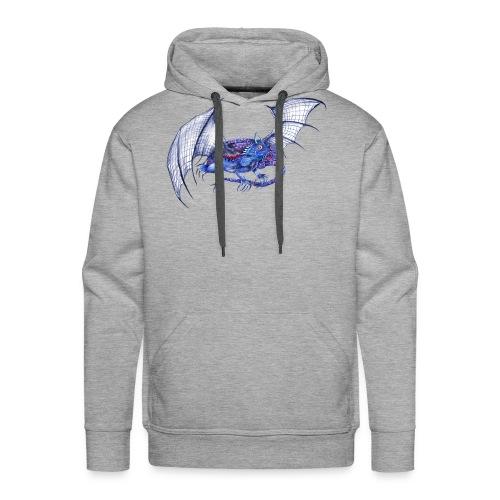 Long tail blue dragon - Men's Premium Hoodie