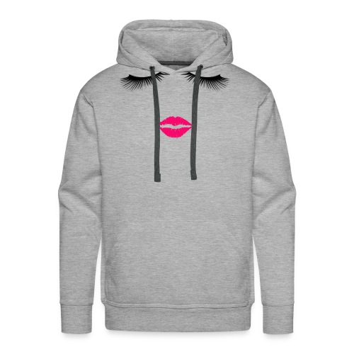 Lipstick and Eyelashes - Men's Premium Hoodie