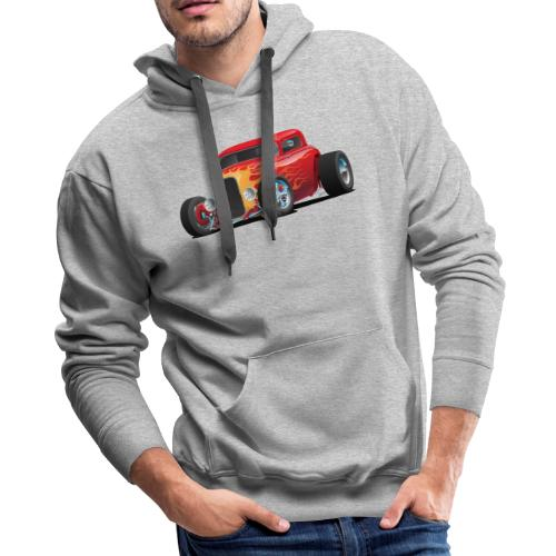 Classic Bold Red Custom Street Rod - Men's Premium Hoodie