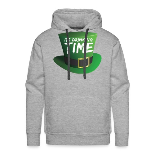 drinking time st patricks day - Men's Premium Hoodie