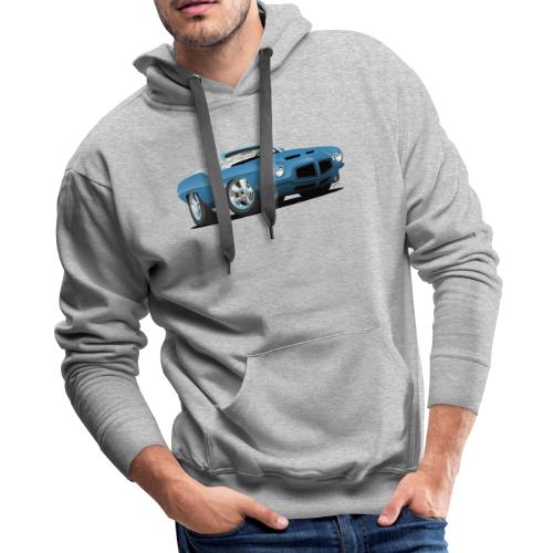 American Classic Seventies Convertible Car Cartoon - Men's Premium Hoodie