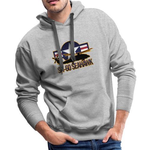 SH 60 sil jeffhobrath MUG - Men's Premium Hoodie